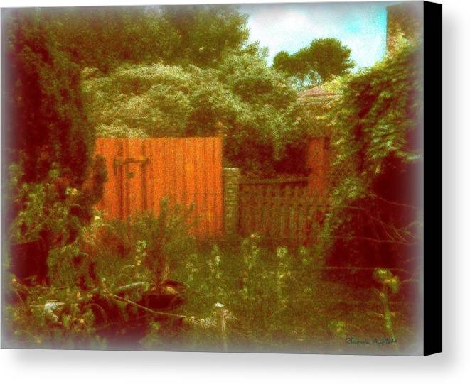 Homescape Canvas Print featuring the mixed media The Side Yard by YoMamaBird Rhonda