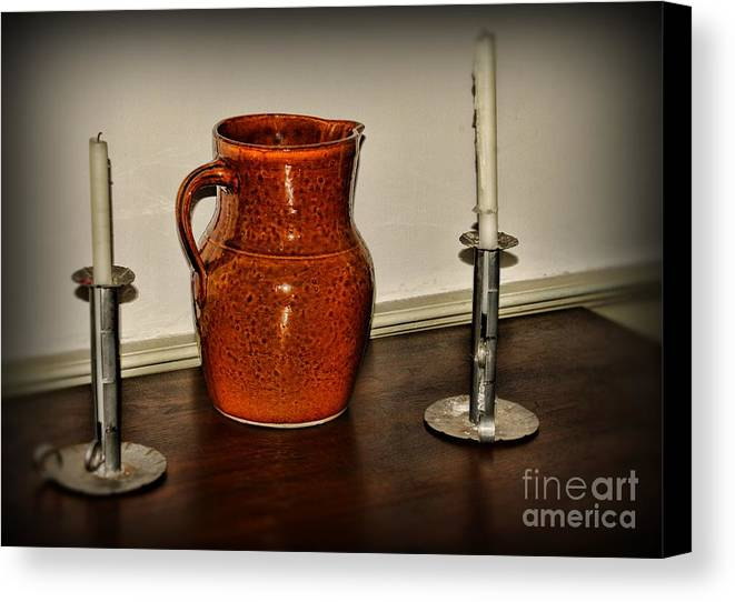 Paul Ward Canvas Print featuring the photograph The Water Pitcher by Paul Ward