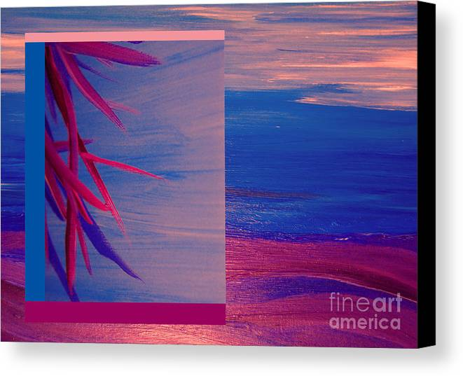 First Star Art Canvas Print featuring the painting Tropical Sunrise By Jrr by First Star Art