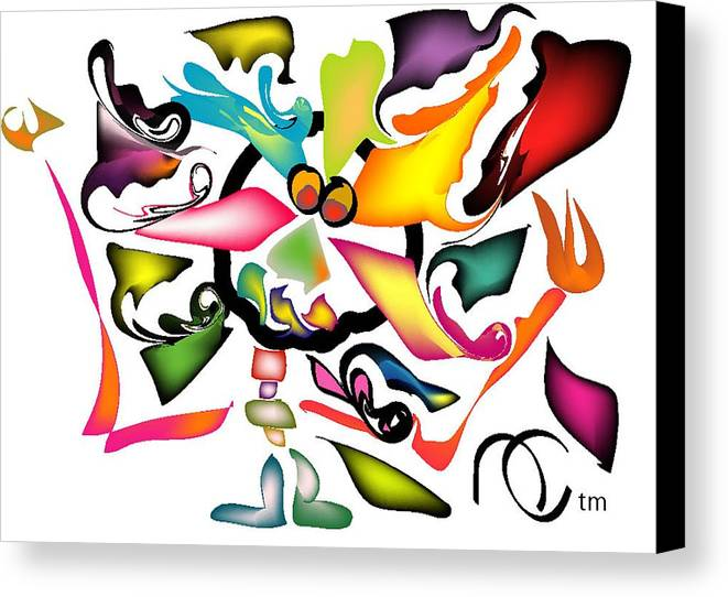 Life's Crazy Canvas Print featuring the digital art Uncle Bunny by Andy Cordan