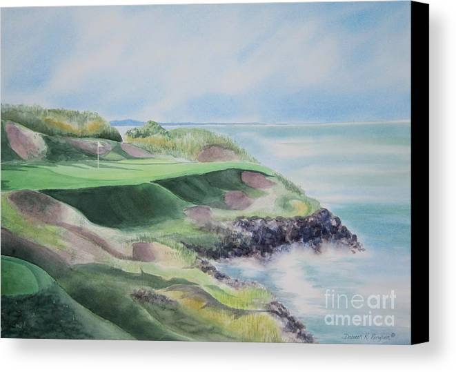 Whistling Straits Canvas Print featuring the painting Whistling Straits 7th Hole by Deborah Ronglien