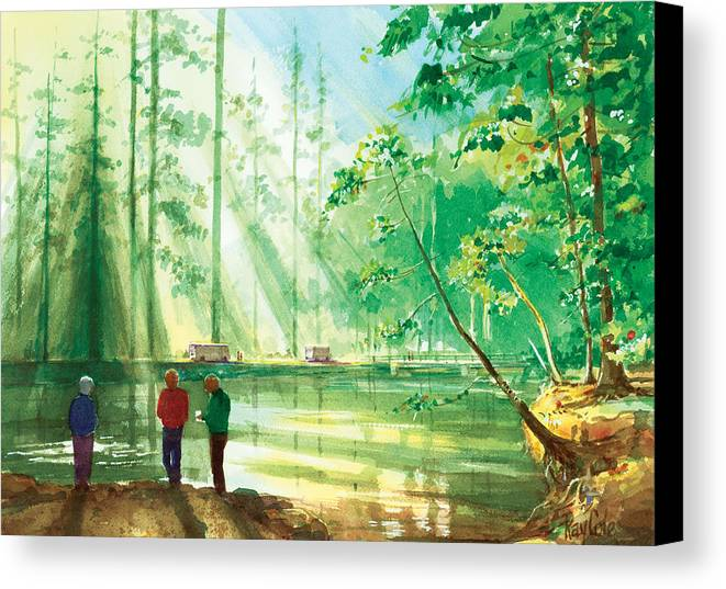 Yosemite Canvas Print featuring the painting Yosemite Morning by Ray Cole