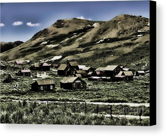 California Canvas Print featuring the photograph Bodie Ghost Town II by Chuck Kuhn