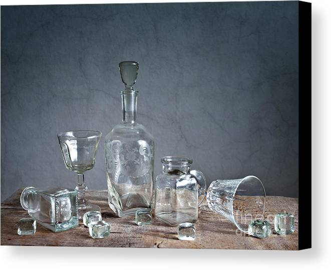 Glass Canvas Print featuring the photograph Glass by Nailia Schwarz