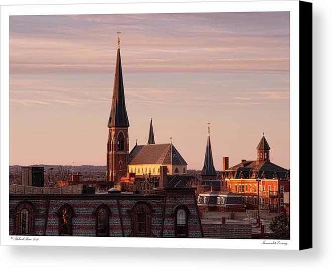 Architecture Canvas Print featuring the photograph Immaculate Evening by Richard Bean