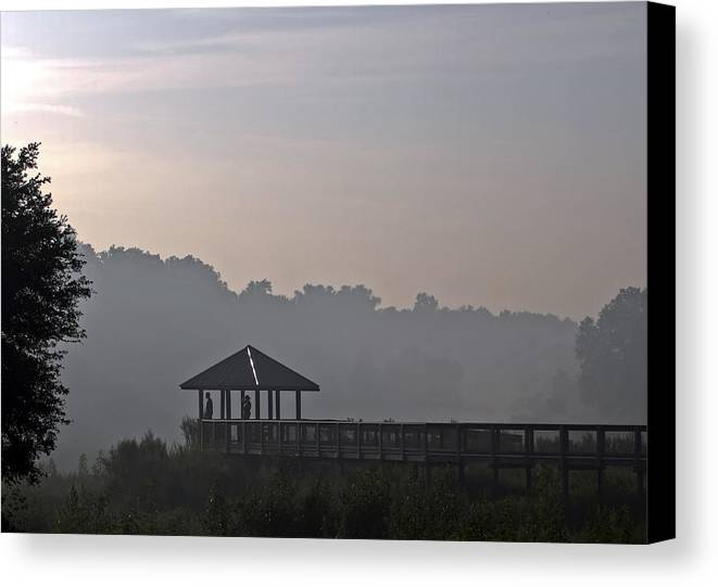 Fog Canvas Print featuring the photograph Morning Fog by Farol Tomson