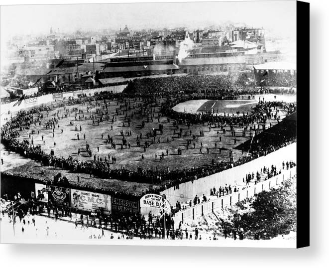 1903 Canvas Print featuring the photograph World Series, 1903 by Granger
