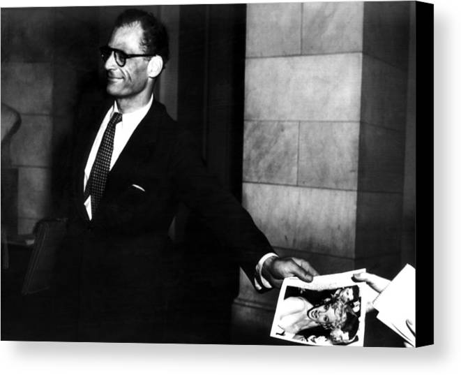 Canvas Print featuring the photograph Arthur Miller, 1915-2005, American by Everett
