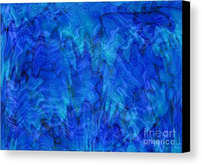 Blue Canvas Print featuring the photograph Blue Glass - Abstract Art by Carol Groenen