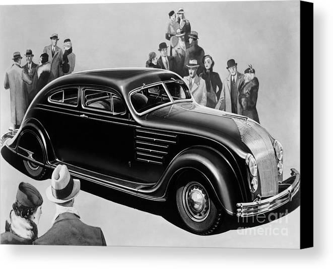 Chrysler Airflow Canvas Print featuring the photograph Chrysler Airflow by Photo Researchers