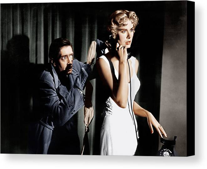 1950s Movies Canvas Print featuring the photograph Dial M For Murder, From Left Anthony by Everett