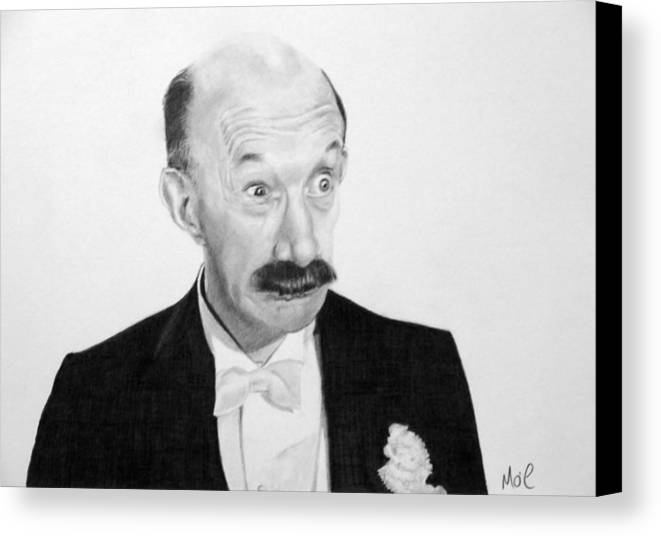 Comedy Canvas Print featuring the drawing Dohhhhhhh by Mike OConnell
