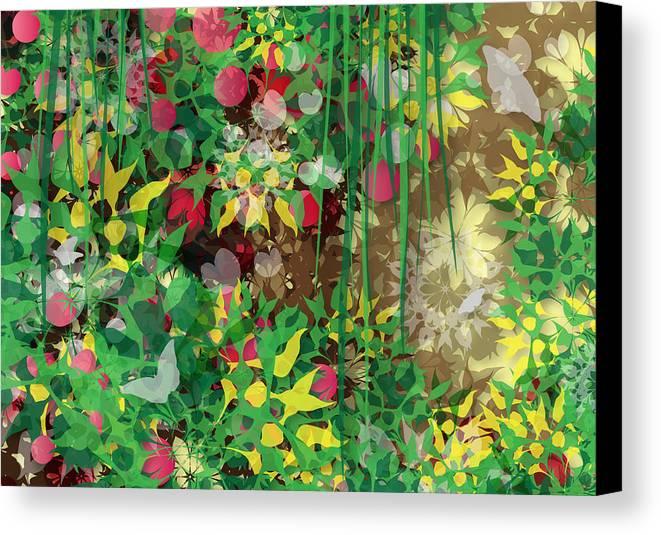 Garden Canvas Print featuring the digital art Garden by Fruhling