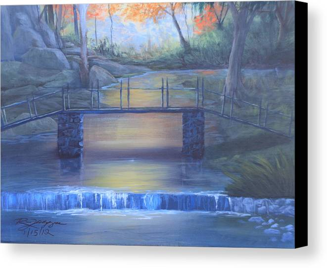 Fall Landscape. Babbling Brooks Canvas Print featuring the painting Hidden Treasures by Reggie Jaggers