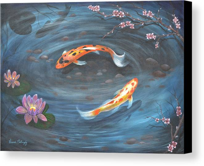 Koi Pond Canvas Print Canvas Art By Desiree Mattingly