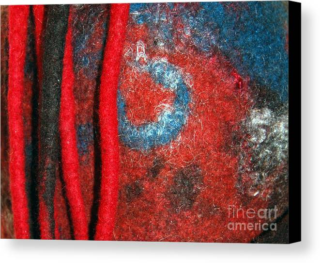 Abstract Canvas Print featuring the tapestry - textile Lined Up Reds   by Alexandra Jordankova