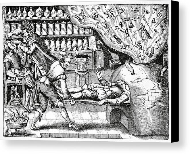 Human Canvas Print featuring the photograph Medical Purging, Satirical Artwork by