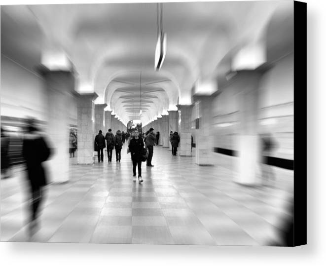 Adult Canvas Print featuring the photograph Moscow Underground by Stelios Kleanthous