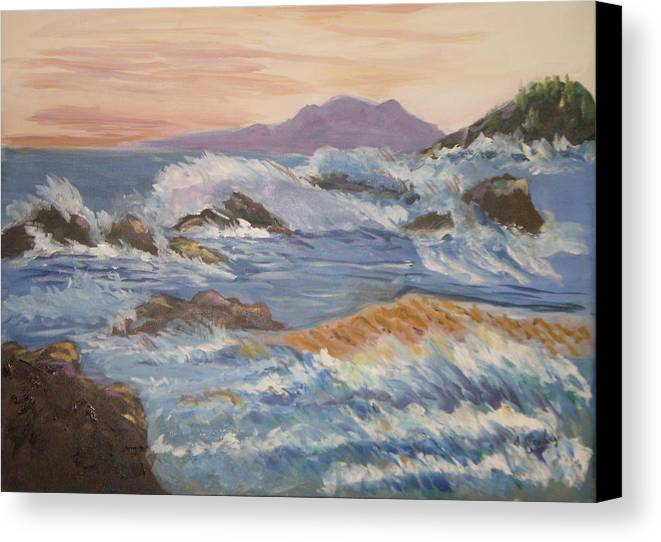 Point Reyes Canvas Print featuring the painting Point Reyes Storm by Al Steinberg