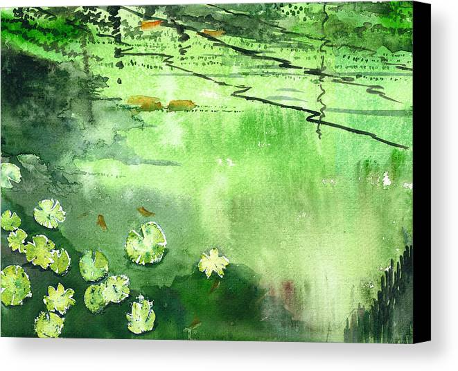 House Canvas Print featuring the painting Reflections 1 by Anil Nene