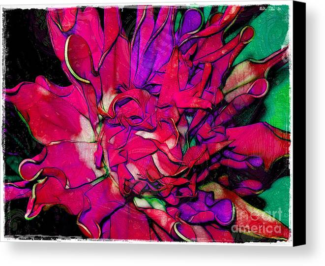 Fabric Canvas Print featuring the photograph Swirly Fabric Flower by Judi Bagwell