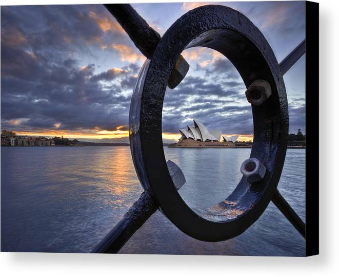 Sydney Opera House Canvas Print featuring the photograph Taking Centre Stage by Renee Doyle