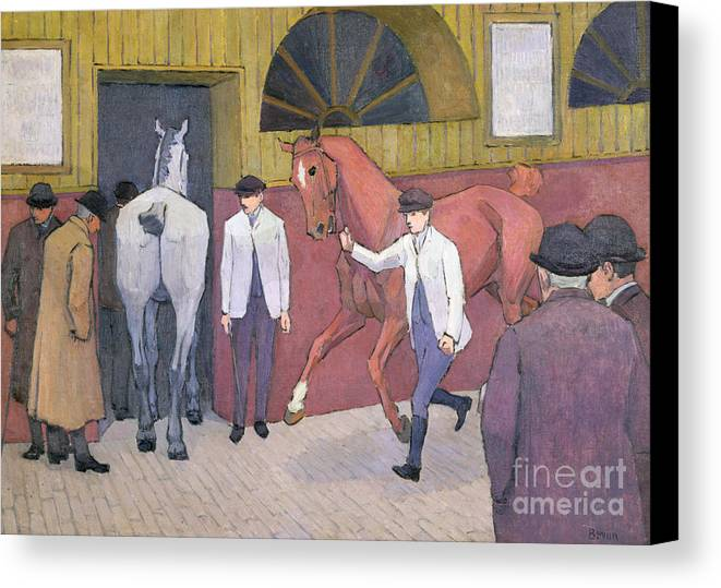 Xyc153932 Canvas Print featuring the photograph The Horse Mart by Robert Polhill Bevan