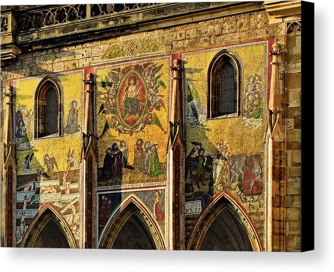 Judgment Canvas Print featuring the photograph The Last Judgment - St Vitus Cathedral Prague by Christine Till