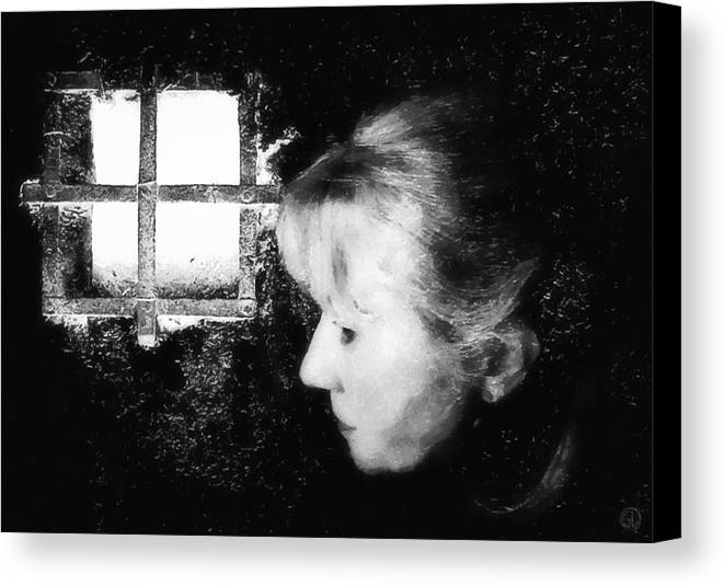 Black Room Canvas Print featuring the digital art Window To The World by Gun Legler