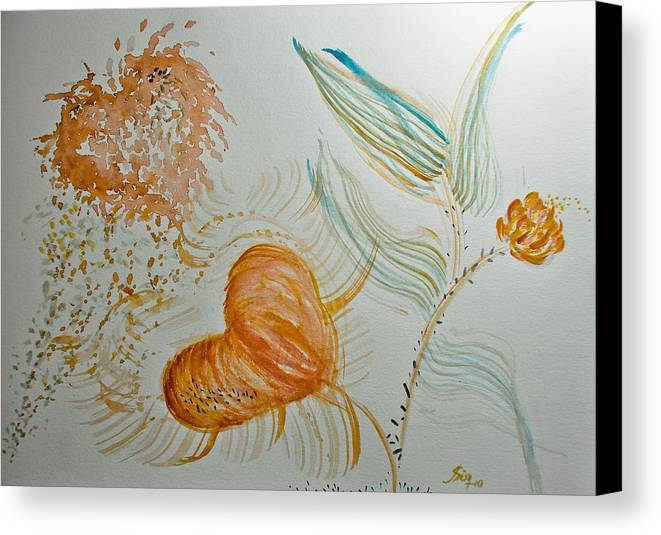 Amor Canvas Print featuring the painting . Lindo Demais . by Aline Siqueira