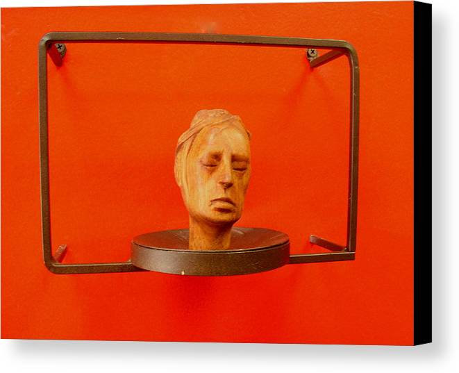 Face Canvas Print featuring the sculpture Face by Victor Amor