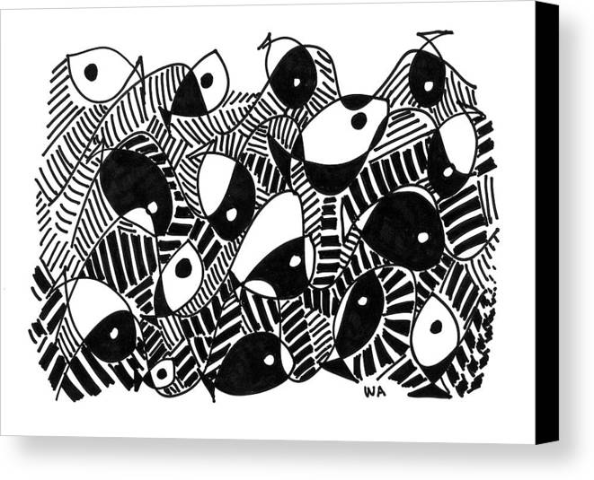Fish Canvas Print featuring the drawing Fish by Wilson Abad