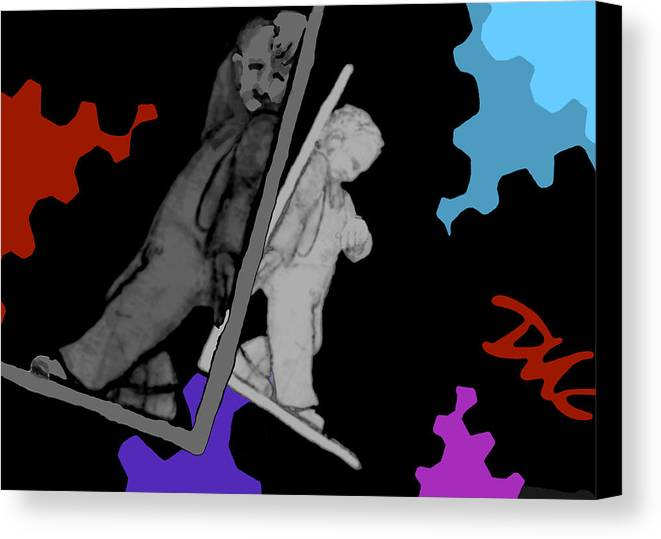 Dkzn Canvas Print featuring the digital art Idle Bookends by Tom Dickson