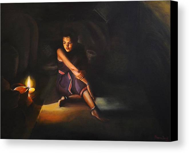 Light Canvas Print featuring the painting Rasaathi by Dheepa David