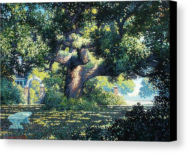 Landscape Canvas Print featuring the painting Charlies Friend by Kevin Lawrence Leveque