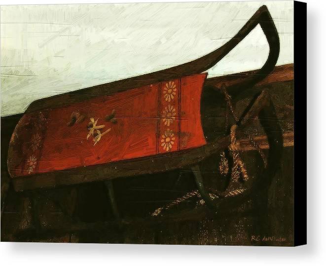 Antique Canvas Print featuring the painting Mais Ou Sont Les Neiges D'antan by RC DeWinter