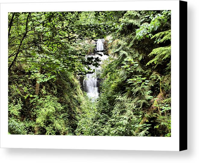 Waterfall Canvas Print featuring the photograph A Secret Place by J D Banks