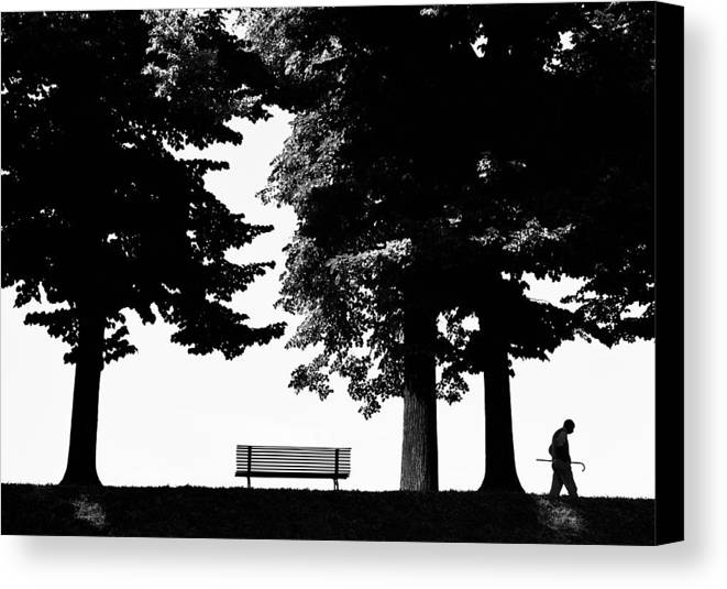 Nature Canvas Print featuring the photograph A Walk In The Park by Artecco Fine Art Photography