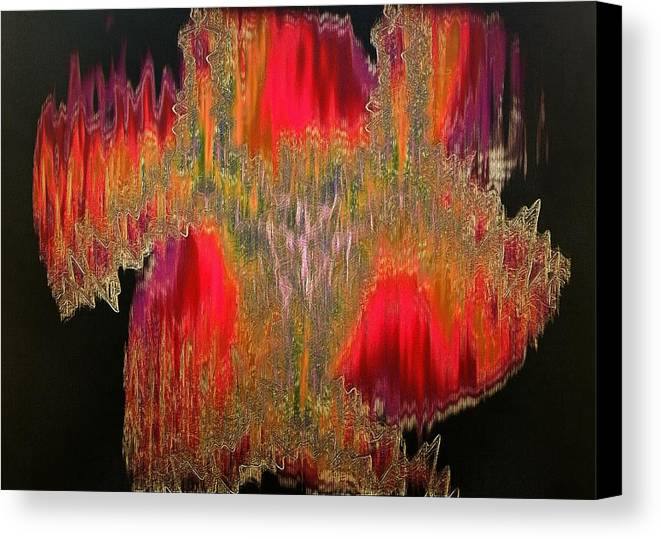 Abstract Canvas Print featuring the digital art Abstract Visuals - The Sizzle Factor by Charmaine Zoe