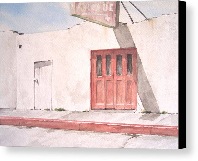 Urban Landscape Canvas Print featuring the painting Balboa Fun Zone by Philip Fleischer