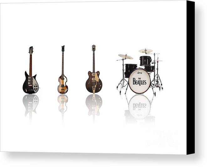 The Beatles Canvas Print featuring the digital art Beat Of Beatles by Six Artist