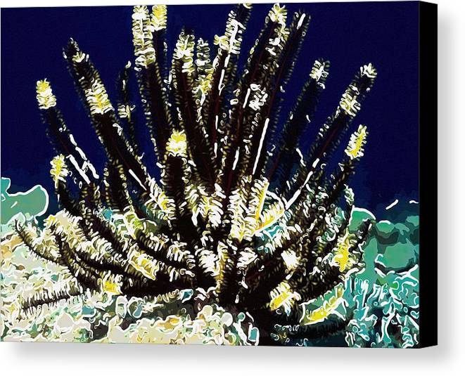 Starfish Canvas Print featuring the painting Beautiful Marine Plants 10 by Lanjee Chee