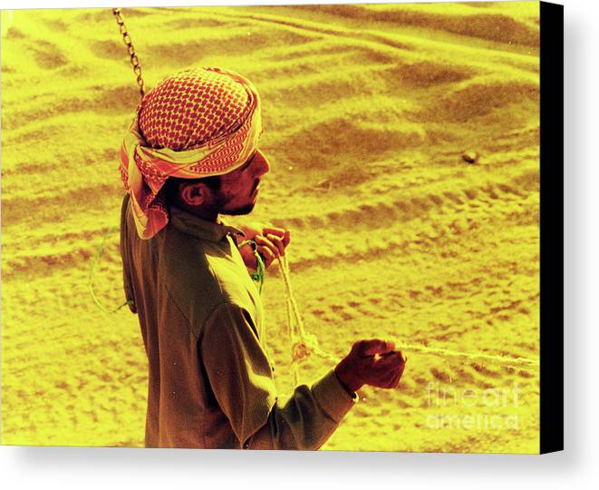 Egypt Canvas Print featuring the photograph Bedouin Guide by Elizabeth Hoskinson