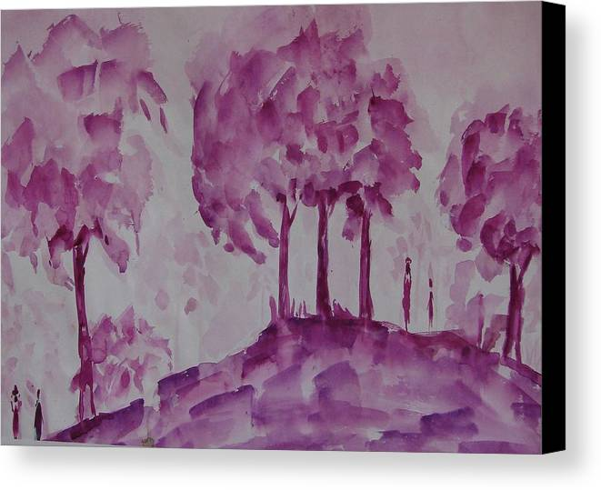 Nature Canvas Print featuring the painting Begining Of Ending by Rima