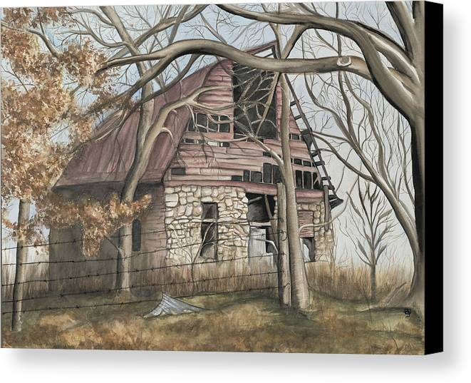 Barn Canvas Print featuring the painting Bella Vista Barn by Patty Vicknair