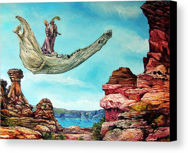 Painting Canvas Print featuring the painting Bogomils Journey by Otto Rapp