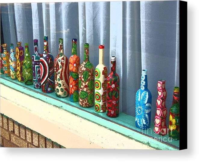 Bottles Canvas Print featuring the photograph Bottled Up by Debbi Granruth