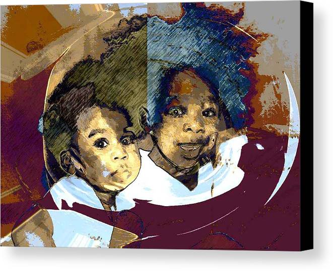 Portrait Canvas Print featuring the photograph Brothers 1 by LeeAnn Alexander
