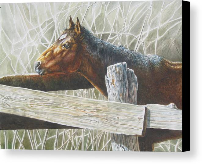 Figurative Canvas Print featuring the painting Brownie by Arnold Hurley