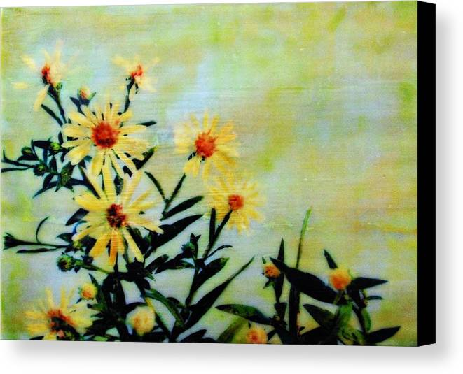 Blooms Canvas Print featuring the painting By And By by Karen Brown